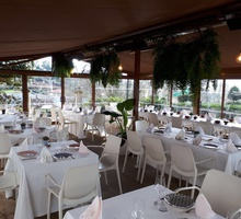 The covered terrace of Pazo do Río is a cozy ...